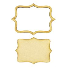Frame and Panel 12 - Wooden 3mm MDF Laser Cut Craft Blank Scrapbook Topper